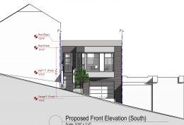 731 Peralta Avenue facade, elevation by SIA Consulting