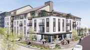 85 Cleaveland Road development, rendering by KTGY Architects via East Bay Times