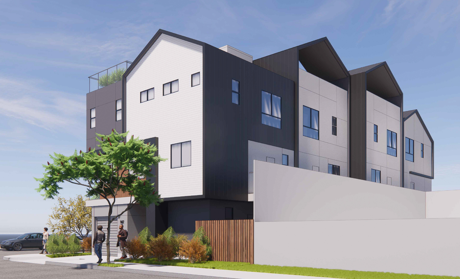 942 Pine Street rear view, rendering by Collaborative Design Studio