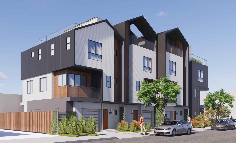 942 Pine Street view, rendering by Collaborative Design Studio