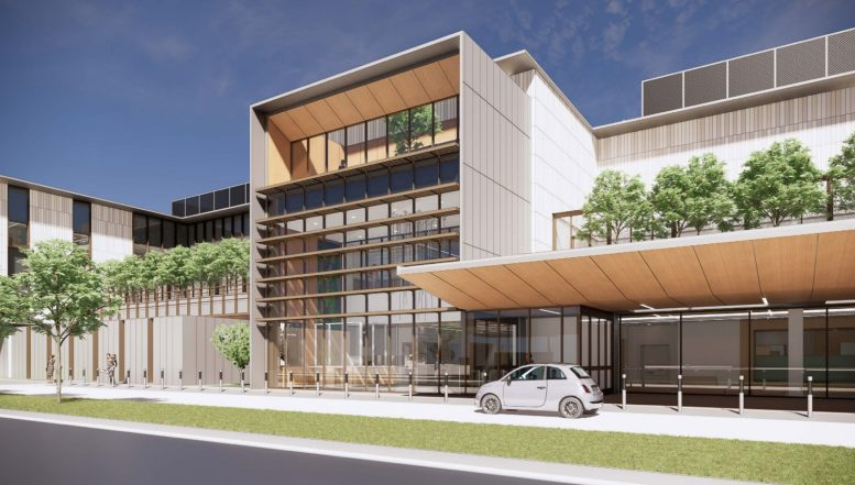 Behavioral Health Services Center entry, rendering from Santa Clara County