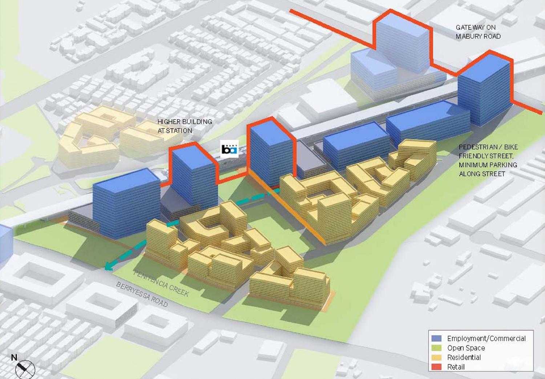 Berryessa BART Urban Village plan Flea Market South District, image via City of San Jose