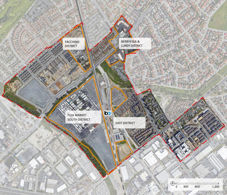 Berryessa BART Urban Village plan map