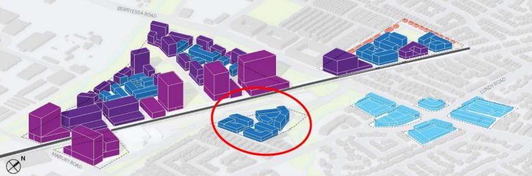 Berryessa BART Urban Village plan massing, image via City of San Jose