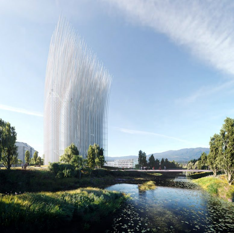 Breeze of Innovation river view, rendering from SMAR Architecture