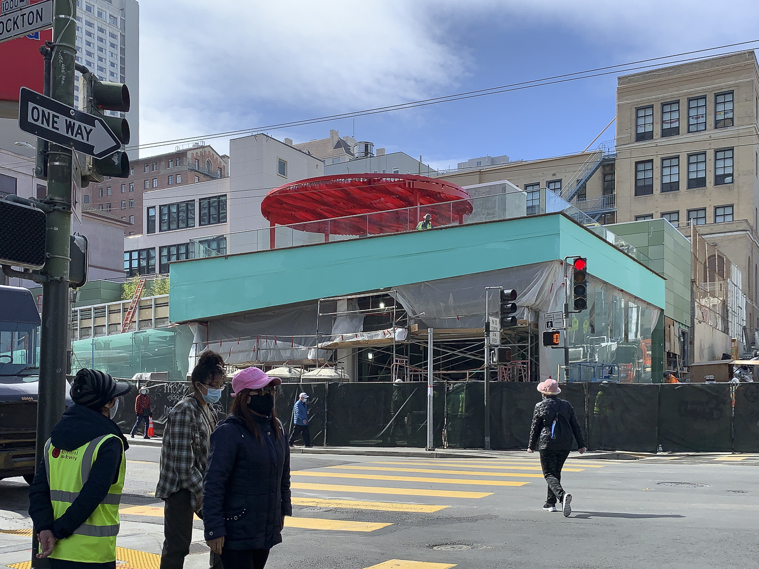 Chinatown Station construction, image courtesy an SFYIMBY reader