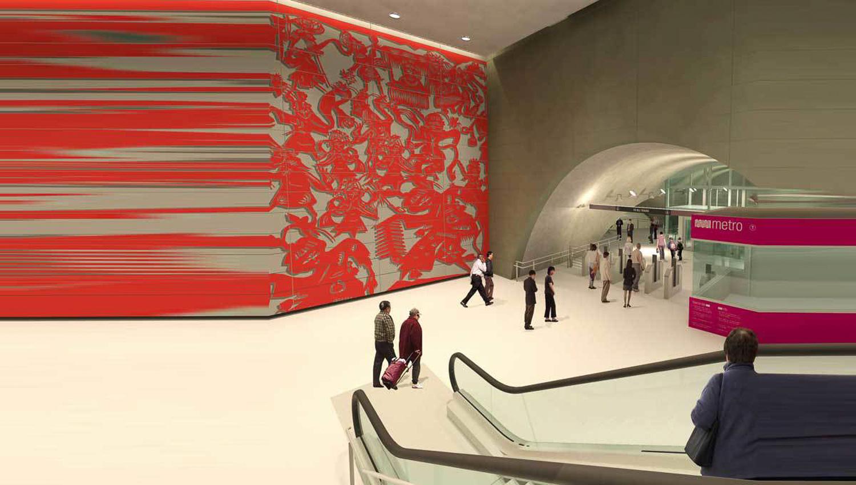 Chinatown Subway subway hall, rendering courtesy DLR Group Kwan Henmi