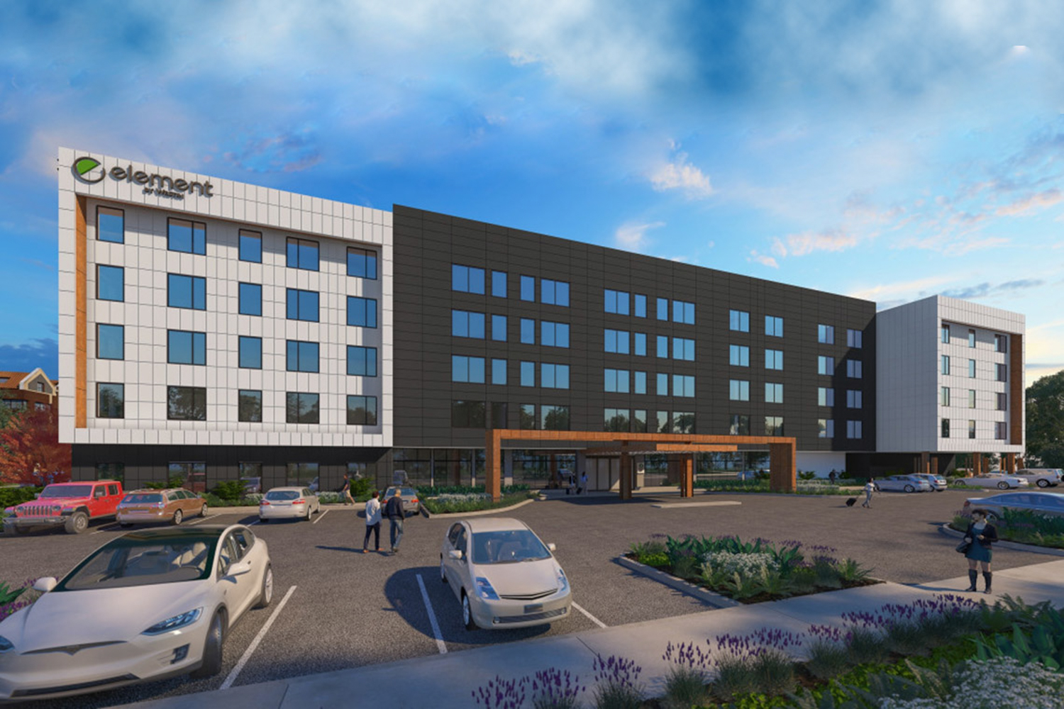 Element Hotel by Marriott, 1130 Champions Drive, rendering via Huff Construction Co