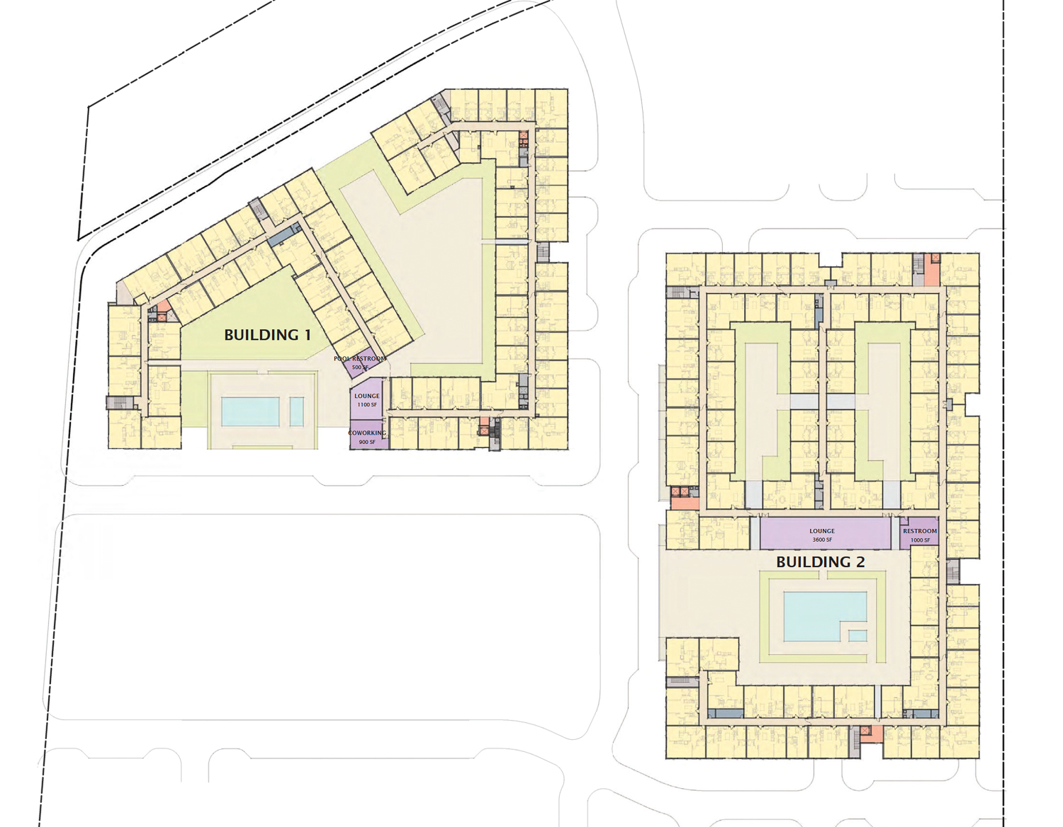 Gateway Crossing phase one ground-level floor plan, map by MVE and Partners