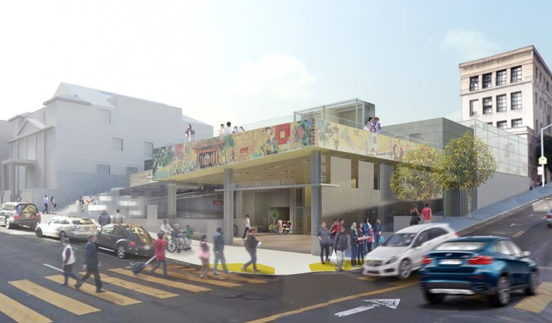 SFMTA Central Subway Chinatown entrance, rendering courtesy Kwan Henmi