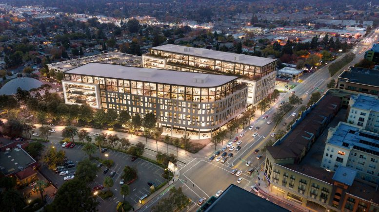 Santana West buildings one and two, rendering by STUDIOS