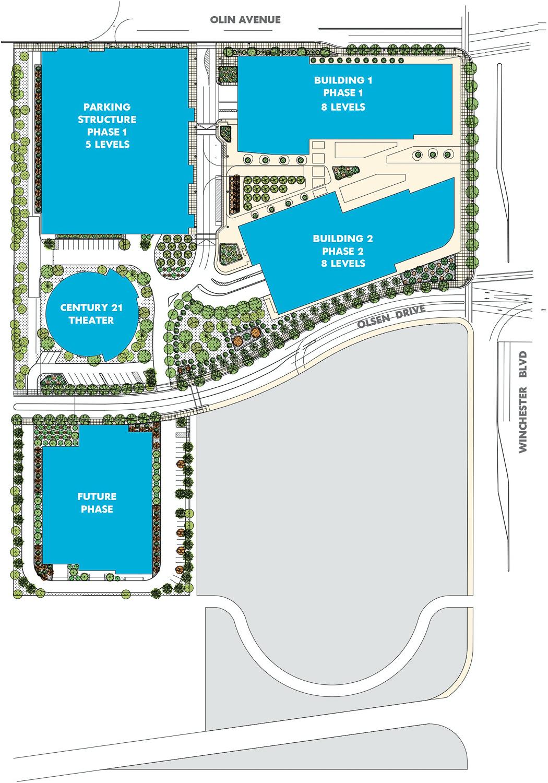 Santana West master site plan, rendering by STUDIOS