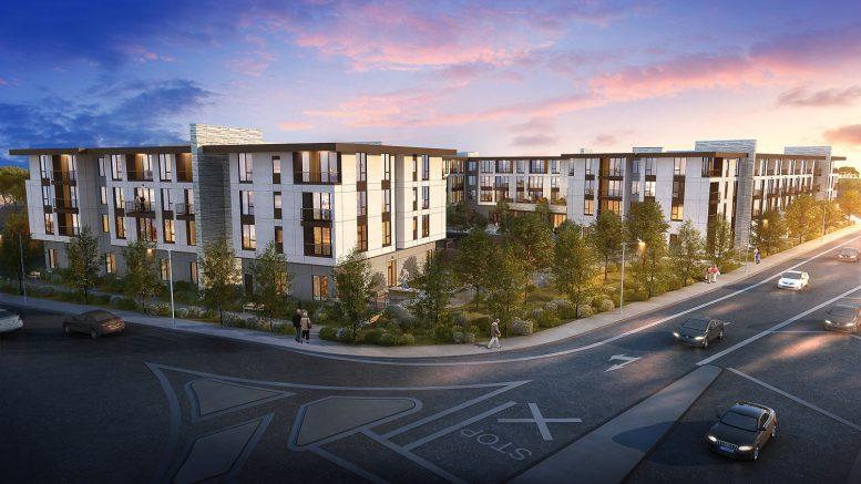 Senior Residential development at 3315 Almaden Expressway, rendering courtesy Urbal Architecture