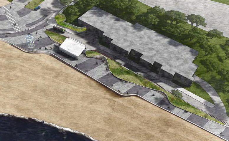 Sloat Plaza along South Ocean Beach, illustration from MFLA