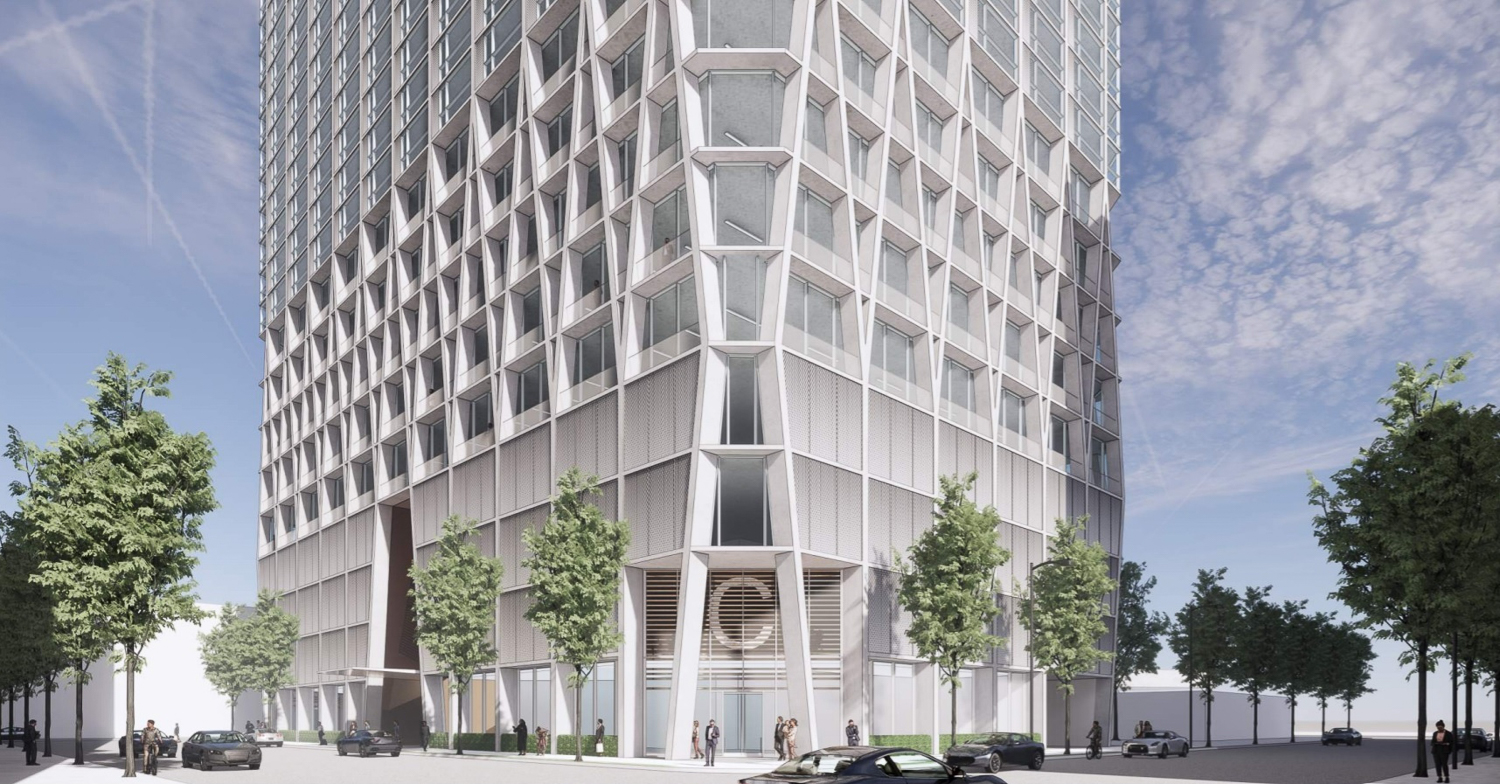 The Carlysle at 51 Notre Dame Avenue base view, rendering courtesy CBRE and Acquity Realty