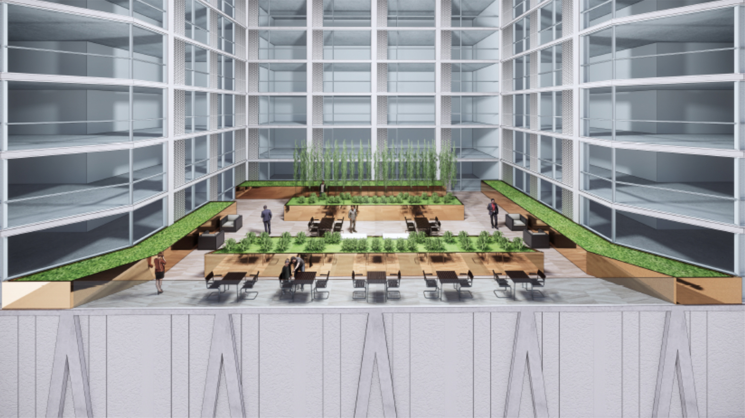 The Carlysle at 51 Notre Dame Avenue interior lobby, rendering courtesy CBRE and Acquity Realty