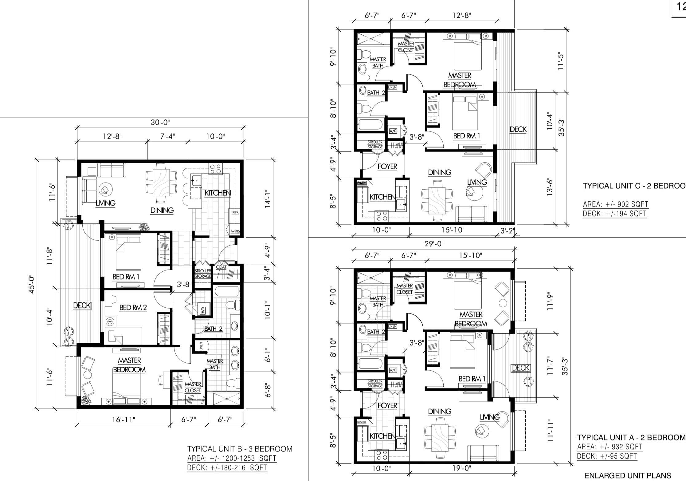 1225 65th Street Unit Plans