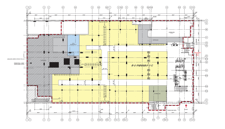 1336 Post Street Target floor plan