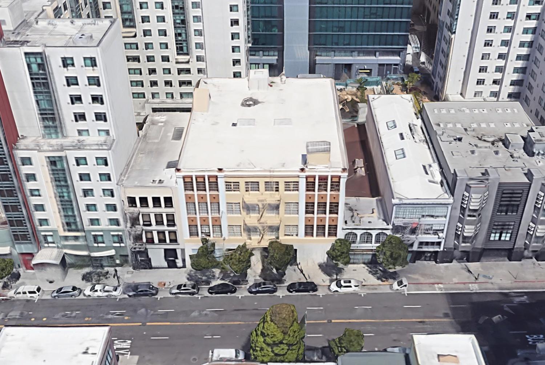 1338-1370 Mission Street, image via Google Satellite