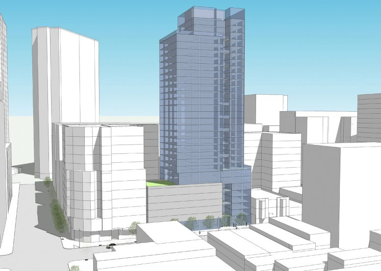 1338-1370 Mission Street southwest perspective, rendering by SmithGroup