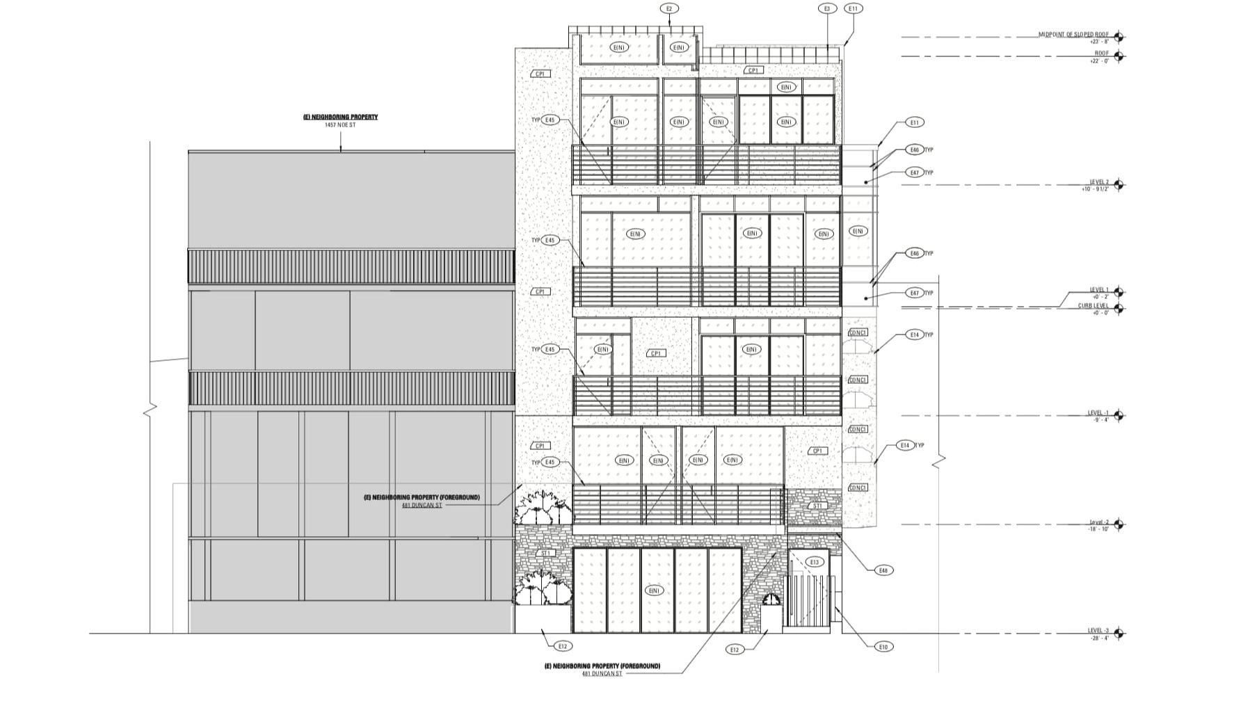 485 Duncan Street Proposed Elevation