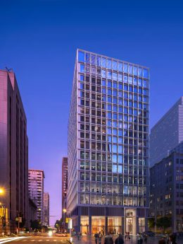 530 Sansome Street evening view, rendering by SOM