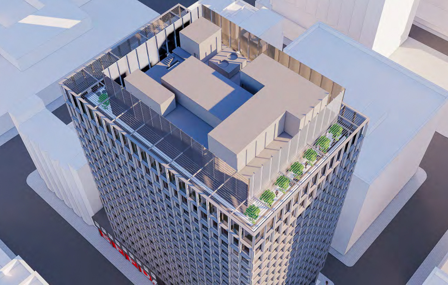 530 Sansome Street rooftop, rendering by SOM