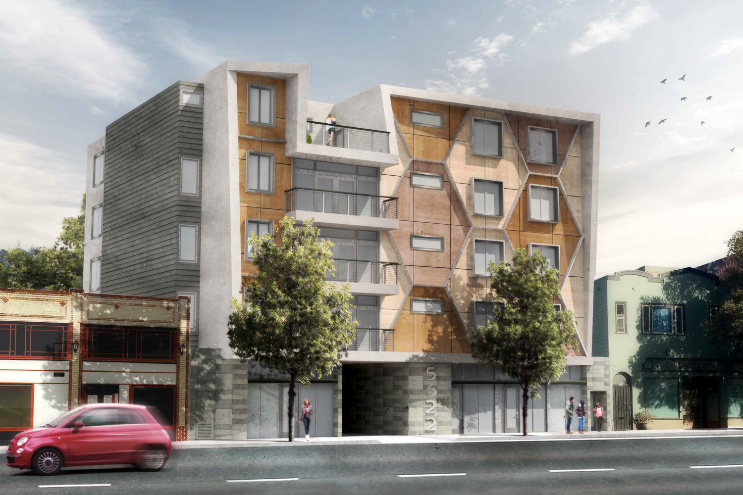 5622 Martin Luther King Jr, rendering by Gunkel Architecture