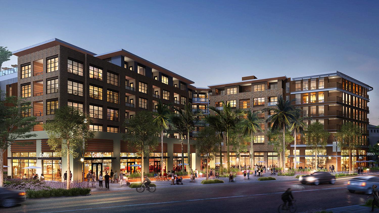 575 Benton Street retail destination view, design by Studio T Square