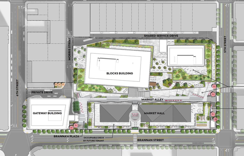 610 Brannan Street site plan, design by Adamson and RCH STUDiOS