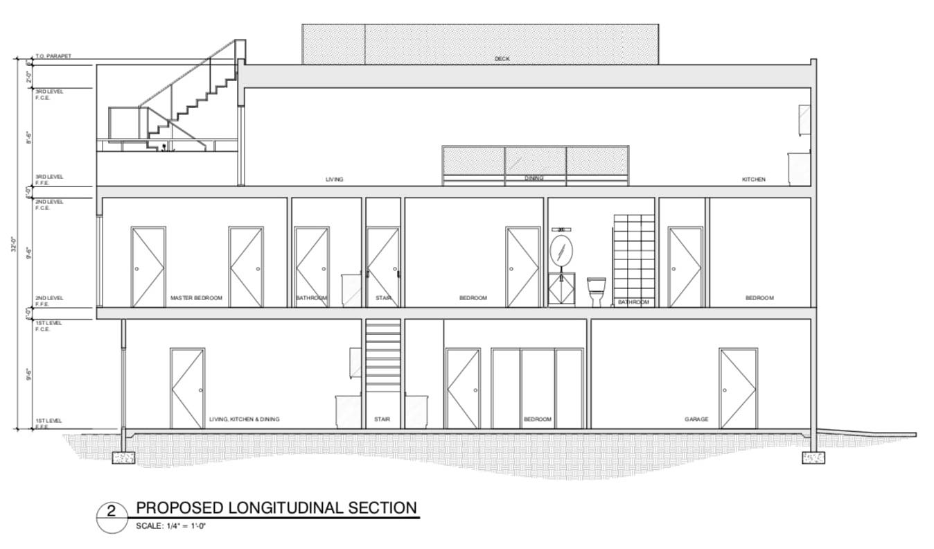 654 28th Street Sectional View