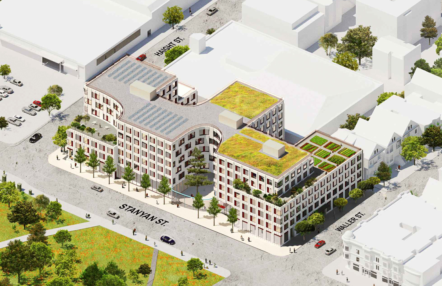 730 Stanyan Street aerial view, design by OMA