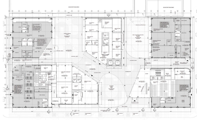 730 Stanyan Street ground-level floor plan, design by OMA