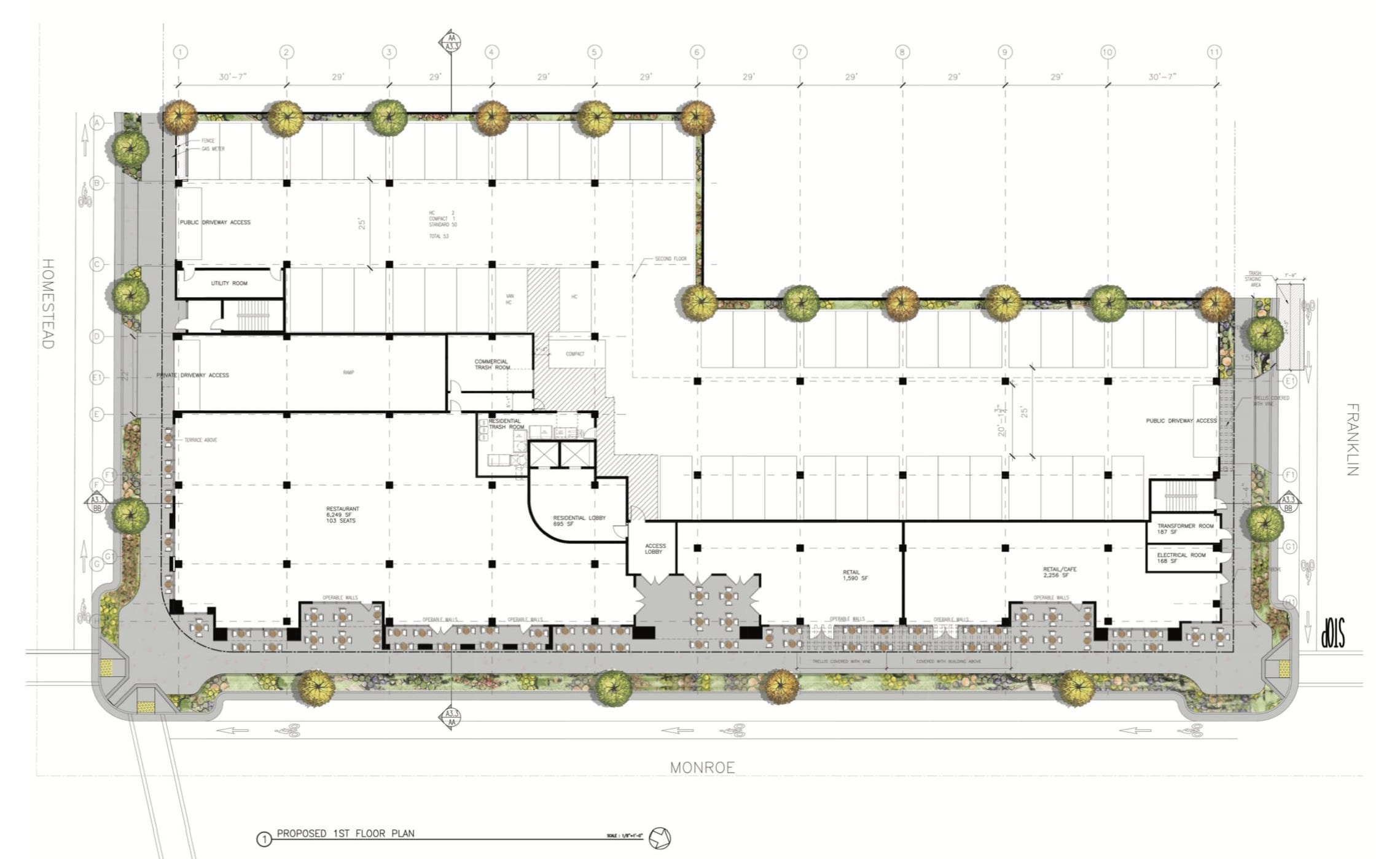 906 Monroe Street First Floor Plan