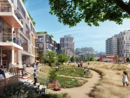India Basin Big Green Park, rendering by Steelblue