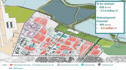 Moffett Park Specific Plan new redevelopment opportunity highlighted in red