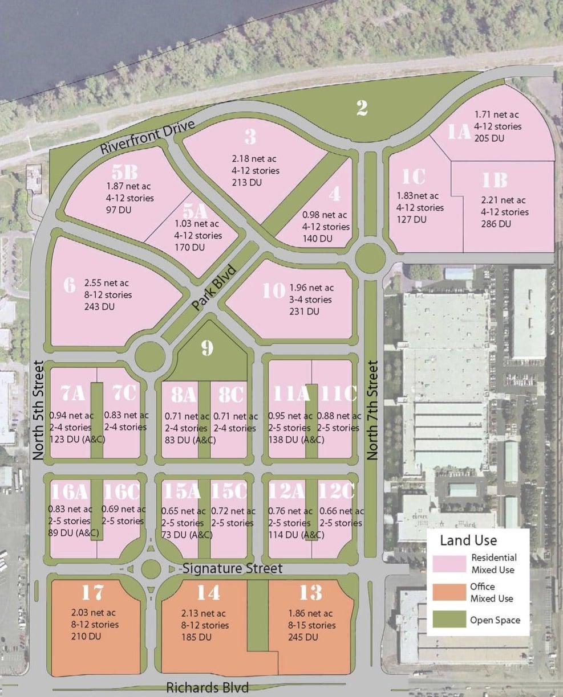 Township Nine Aerial Land Use Plan