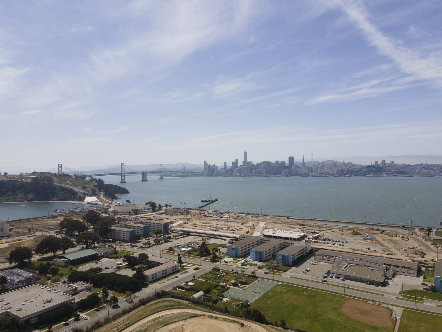 Treasure Island aerial view construction update, image by Andrew Campbell Nelson