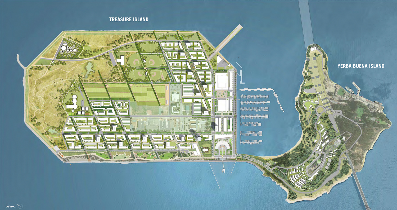 Treasure Island redevelopment map, development by TICD