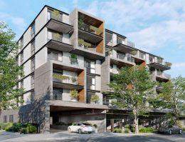 1073-1087 South Winchester Boulevard cross-street view, rendering by Carpira Design Group