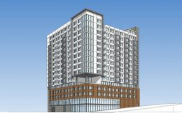 1270 Bush Street residential building, rendering by SmithGroup