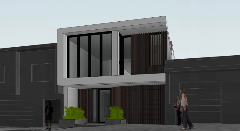 159 Laidley Street facade, rendering by Winder Gibson Architects