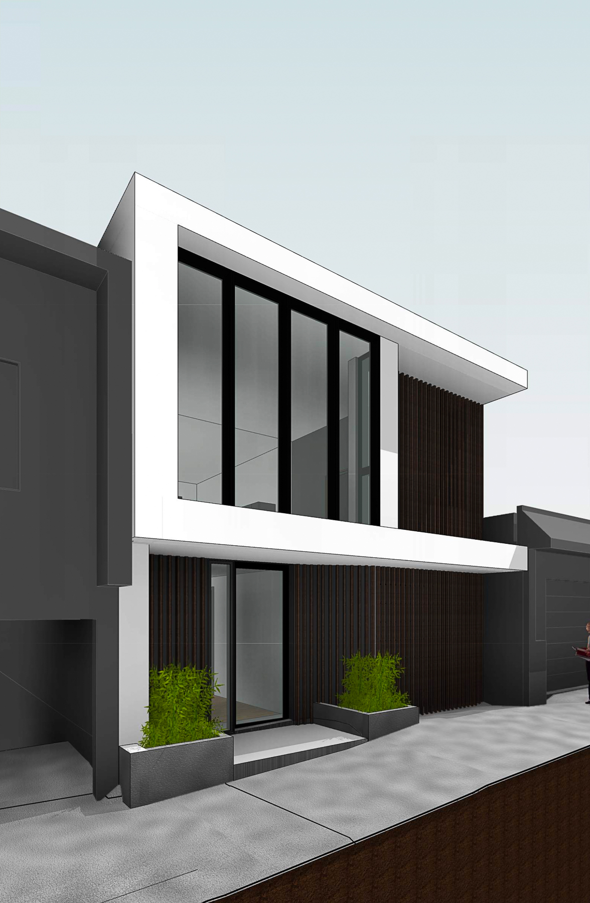 159 Laidley Street street view, rendering by Winder Gibson Architects