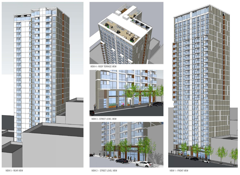 17 East Santa Clara Street sketchups, design by Anderson Architects