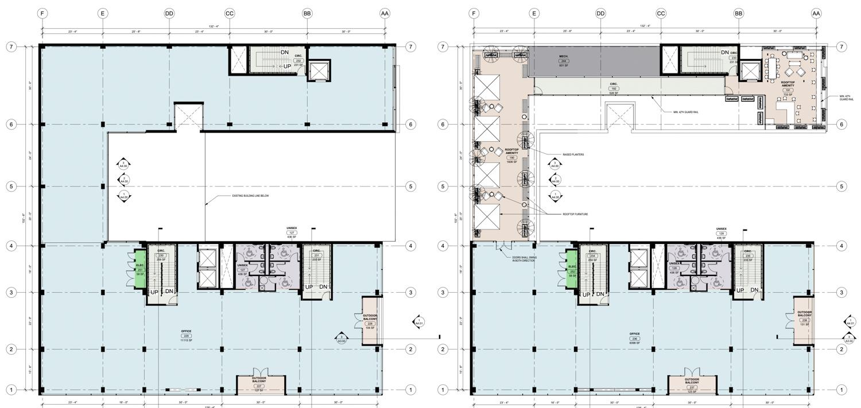 17 South Fourth Street floor plan, illustration courtesy Bayview Development Group