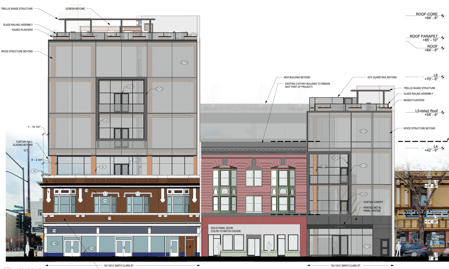 17 South Fourth Street north side elevation, illustration courtesy Bayview Development Group