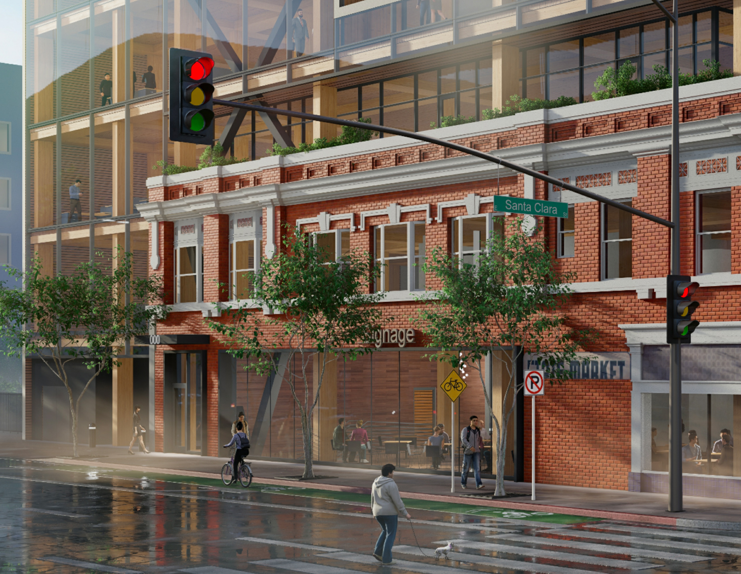 17 South Fourth Street street view close up, rendering courtesy Bayview Development Group