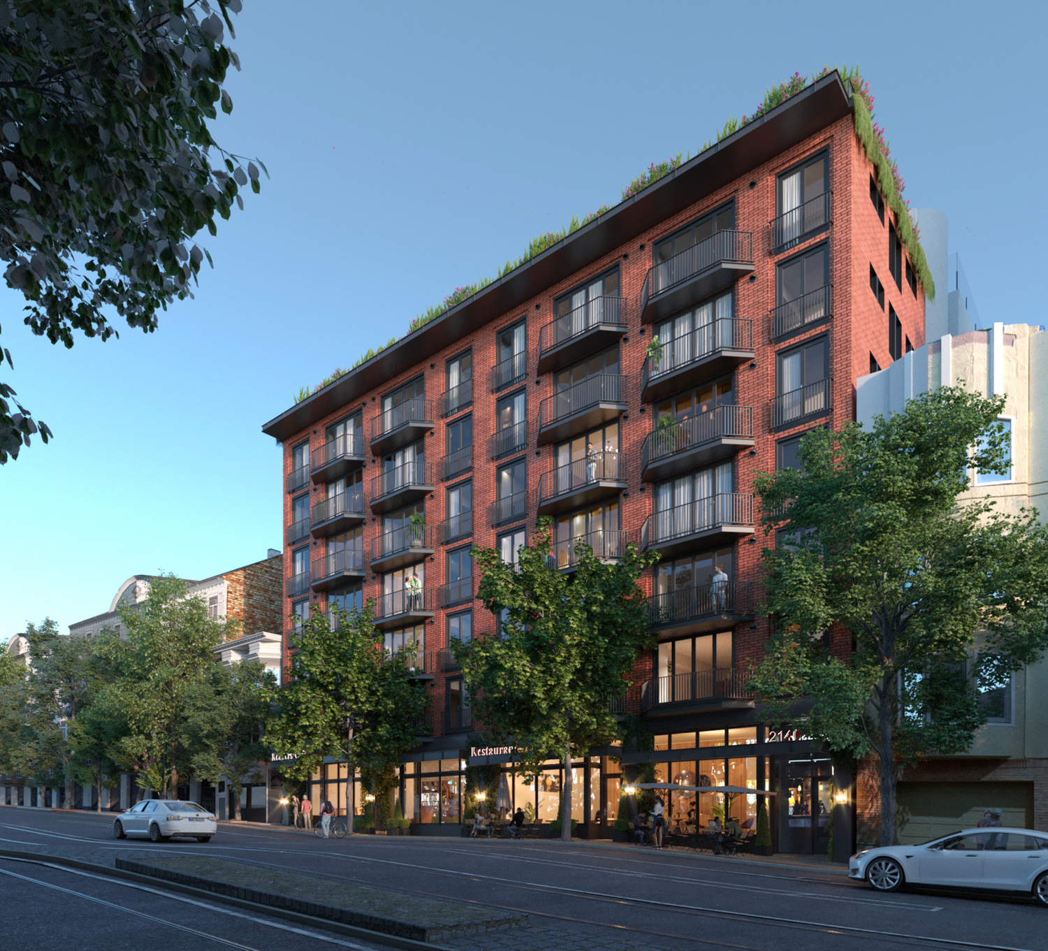 2134-2140 Market Street, rendering by Macy Architecture