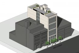244 9th Street aerial view, rendering by SIA Consulting