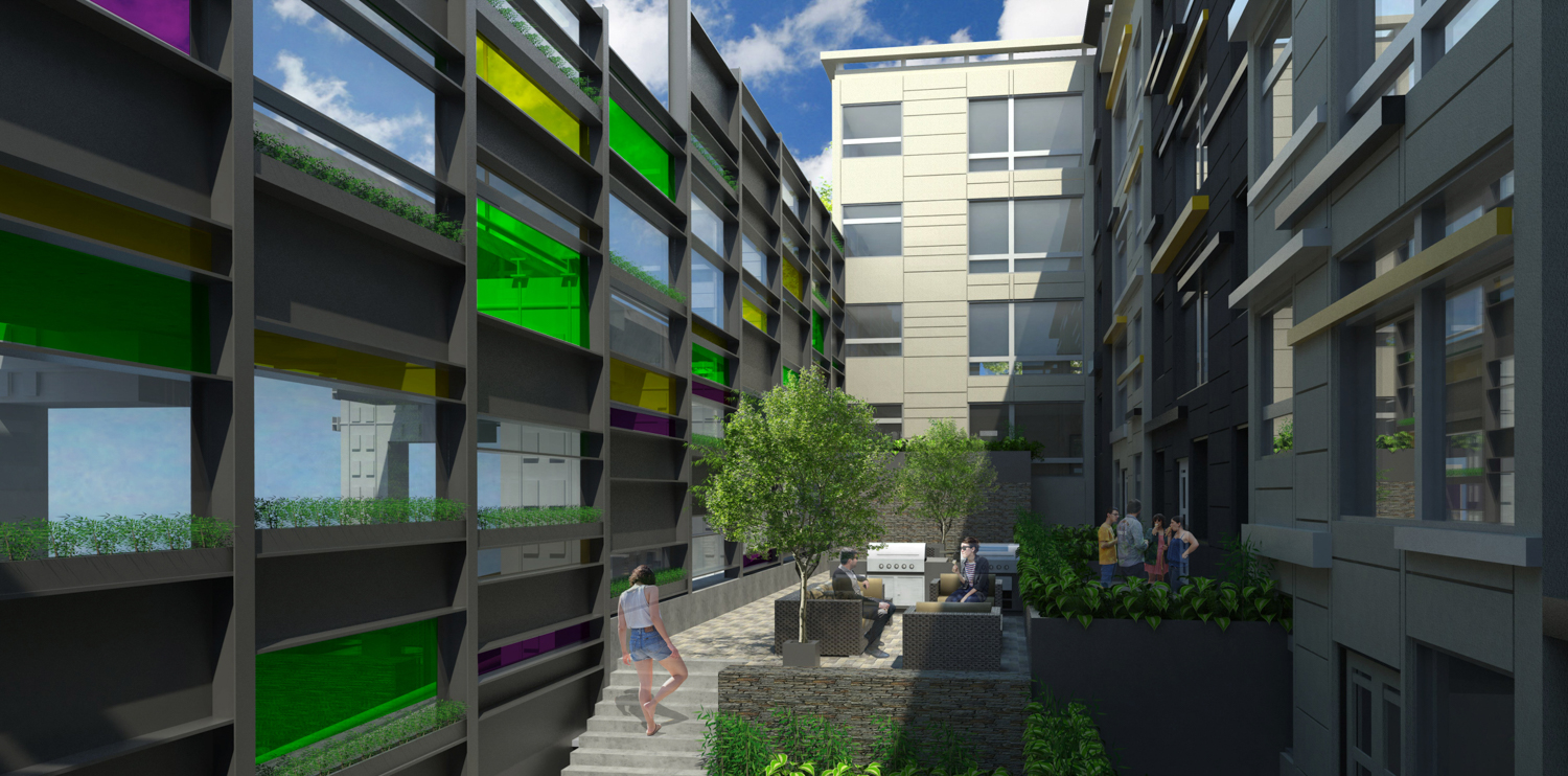 249 Pennsylvania Avenue four story proposal courtyard view, rendering courtesy project website
